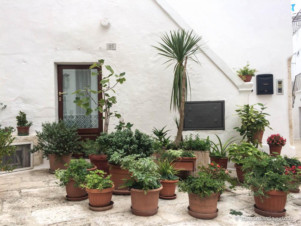 Foto di Locorotondo: cummerse e balconi verdeggianti