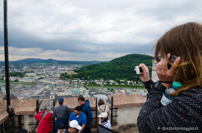 Vista dai bastioni della Hohensalzburg