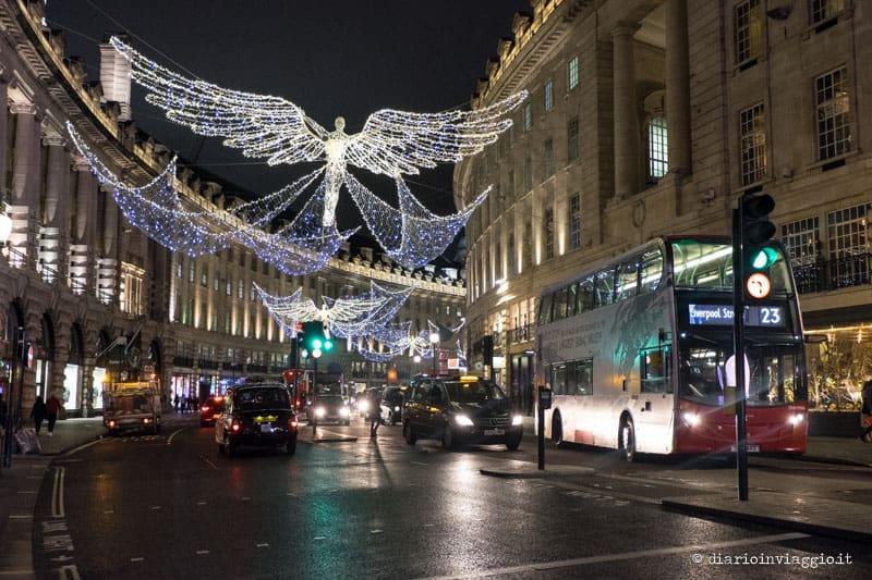 luci natalizie di regents street