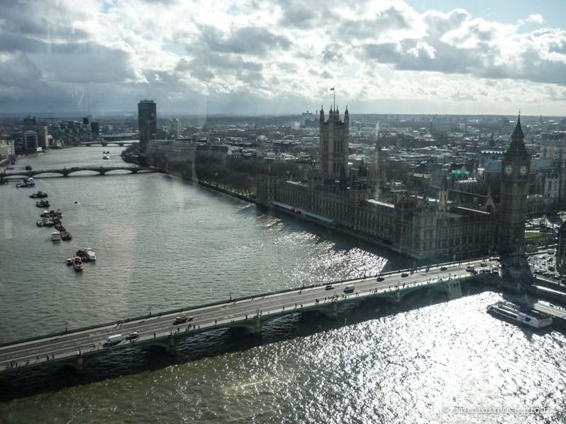 vista dal london eye londra