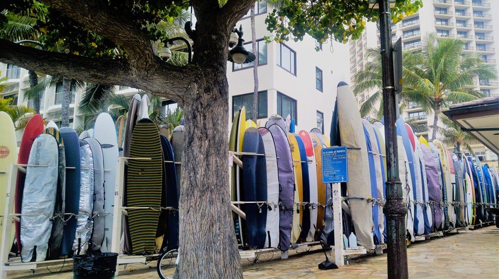 parcheggio surf