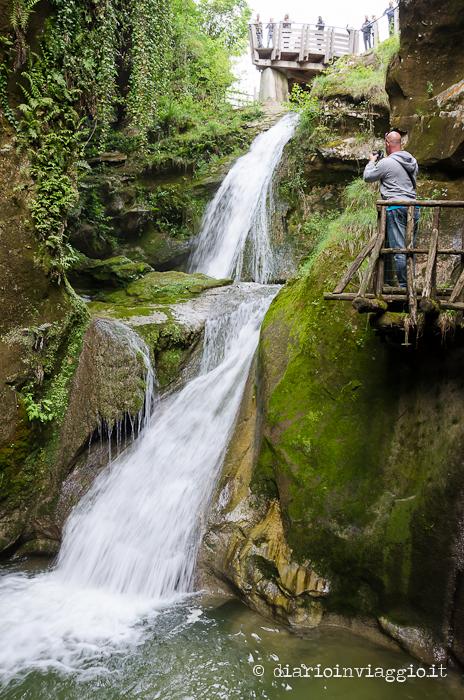 Le cascate formate dal torrente Caglieron