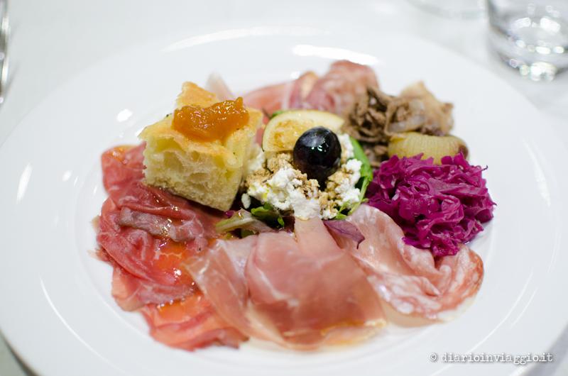 Salumi e carpaccio di carne salada all'Acetaia