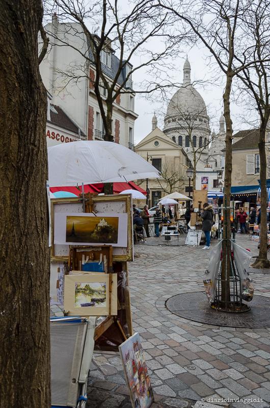 La piazzetta degli artisti a Montmartre