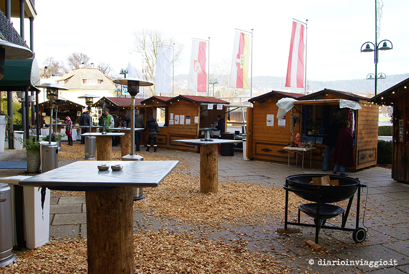 Casette dei mercatini di Velden
