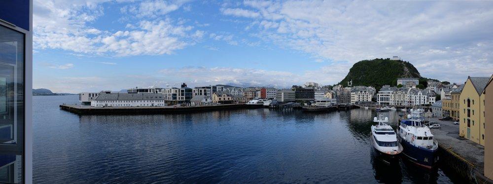 Alesund vista dall'hotel