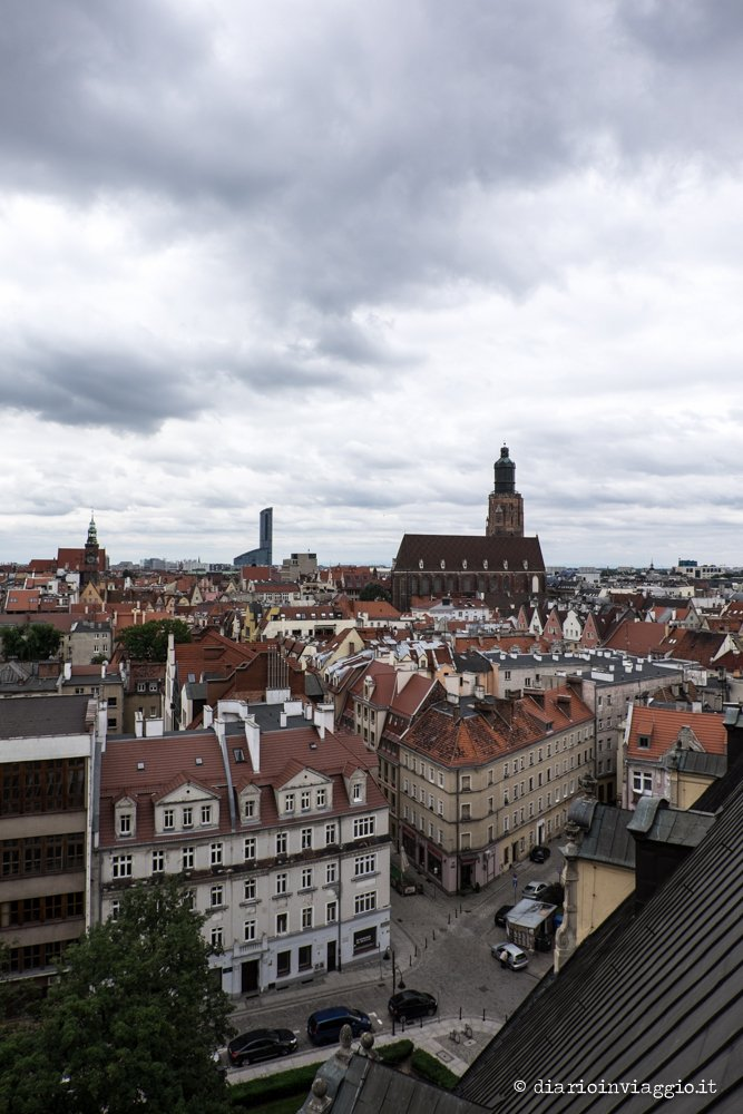 Vista dalla torre della matematica Breslavia