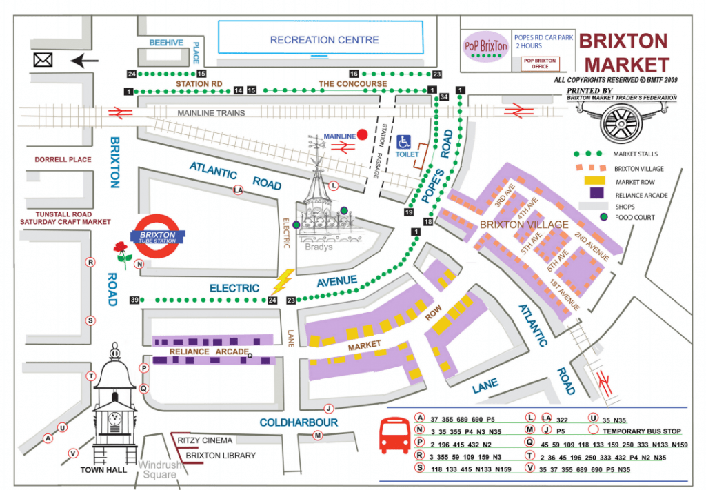 Brixton market map