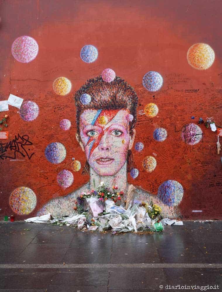 Bowie memorial Brixton