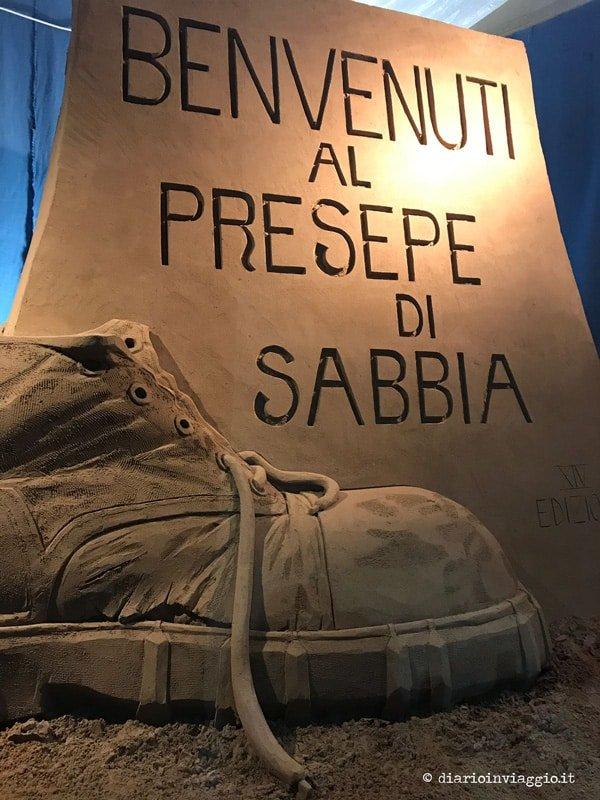 presepe di sabbia di Lignano Sabbiadoro