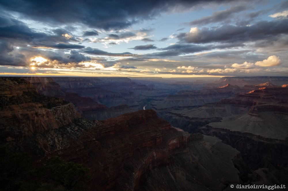 visitare il grand canyon south rim