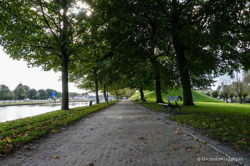 Il parco Kruisvest a Bruges