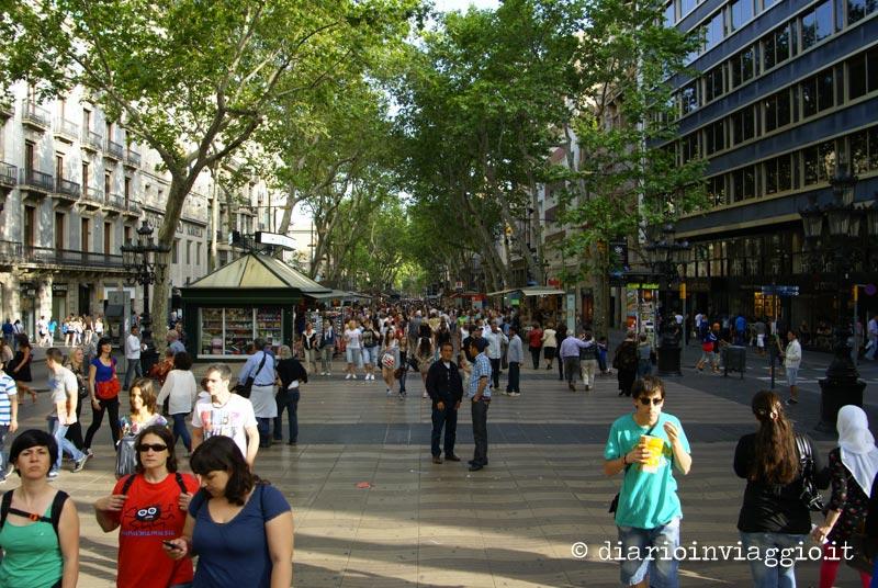 Rambla cosa vedere a Barcellona