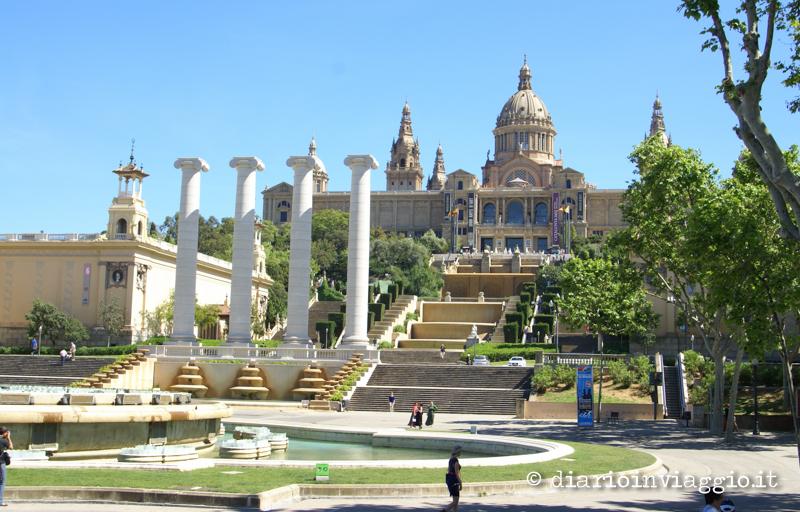 La fontana ed il castello di Montjuc cosa vedere a Barcellona