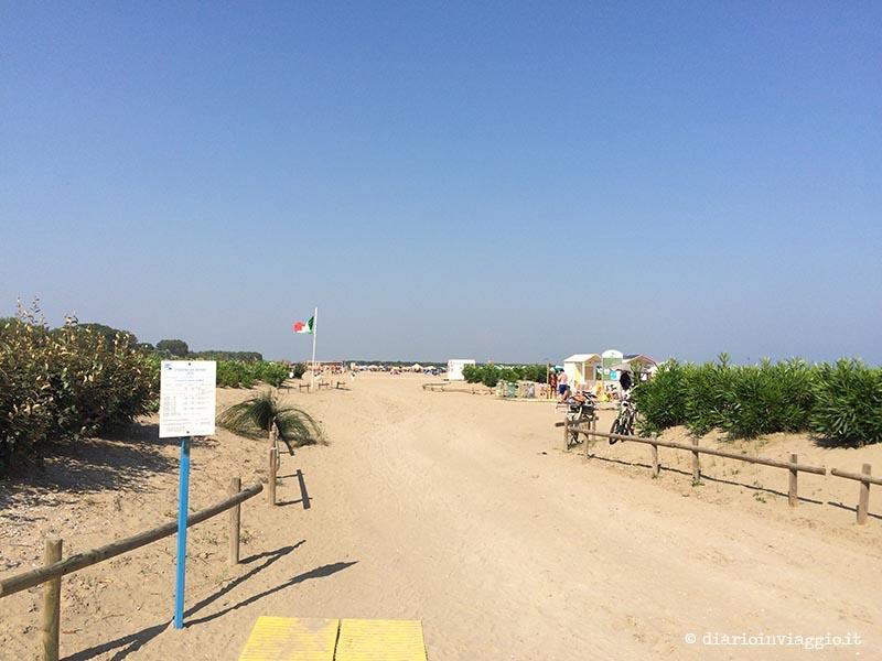 Ingresso della Bau Beach di Caorle