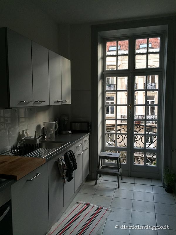 La cucina del nostro appartamento a Bruxelles