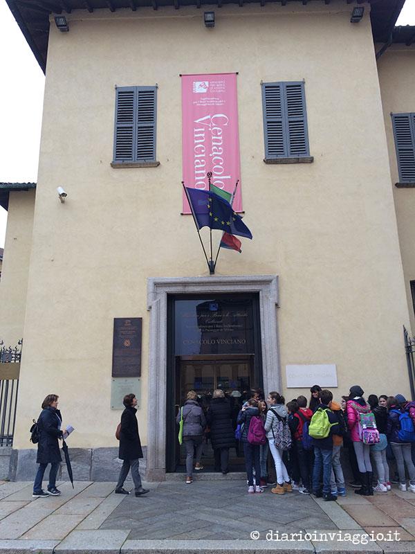 L'ingresso del Cenacolo Vinciano