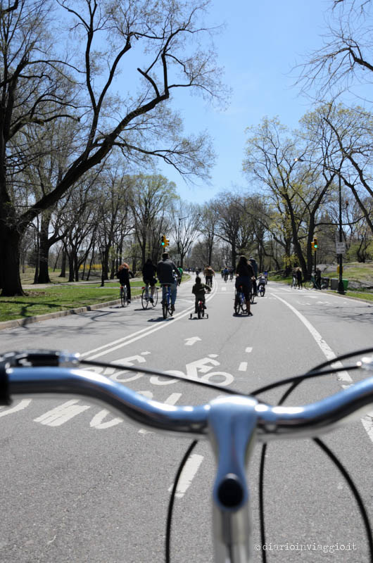In bici a Central Park, New York