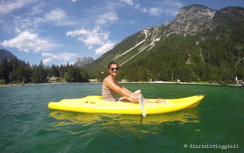 Kayak al lago del Predil