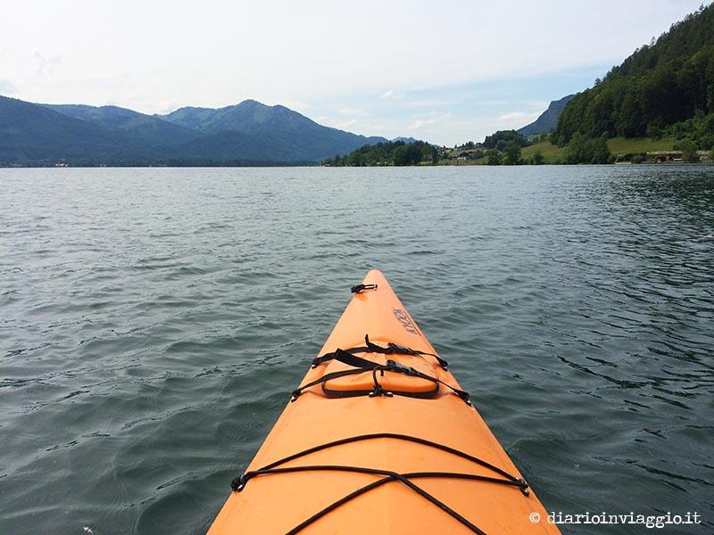 Kayak al Wolfgangsee