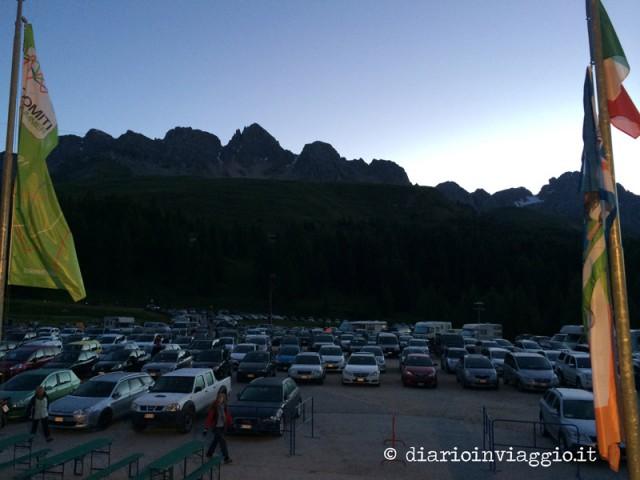 Parcheggio del Col Margherita (all'alba)