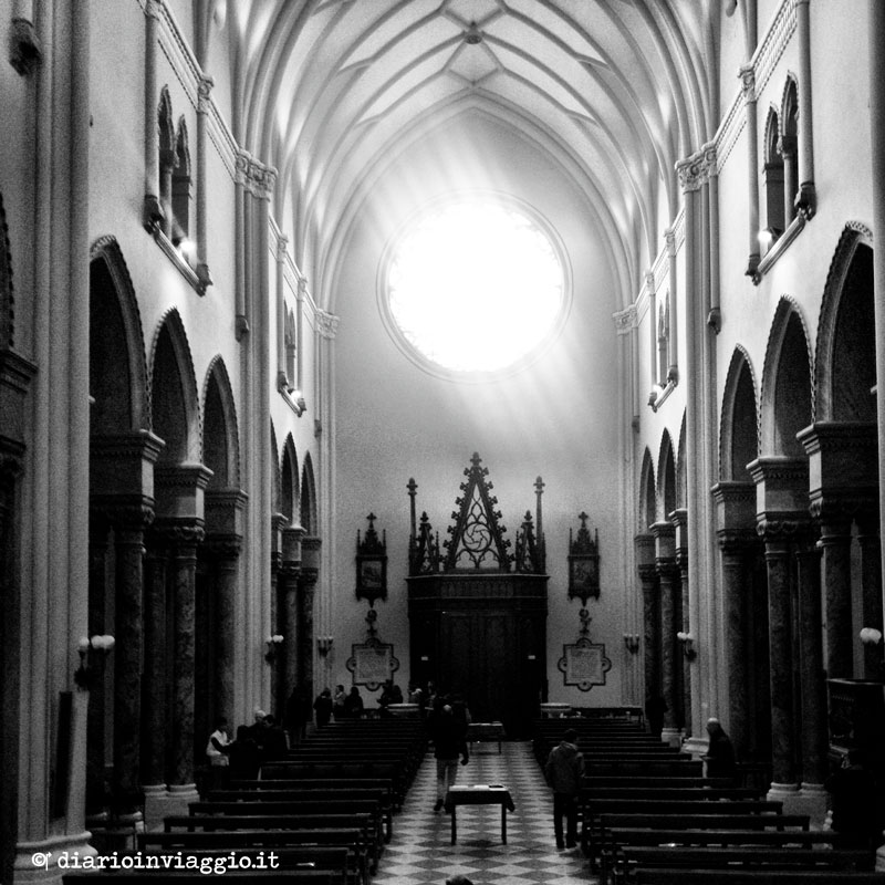 L'interno della chiesa di San Giovanni a Casarsa