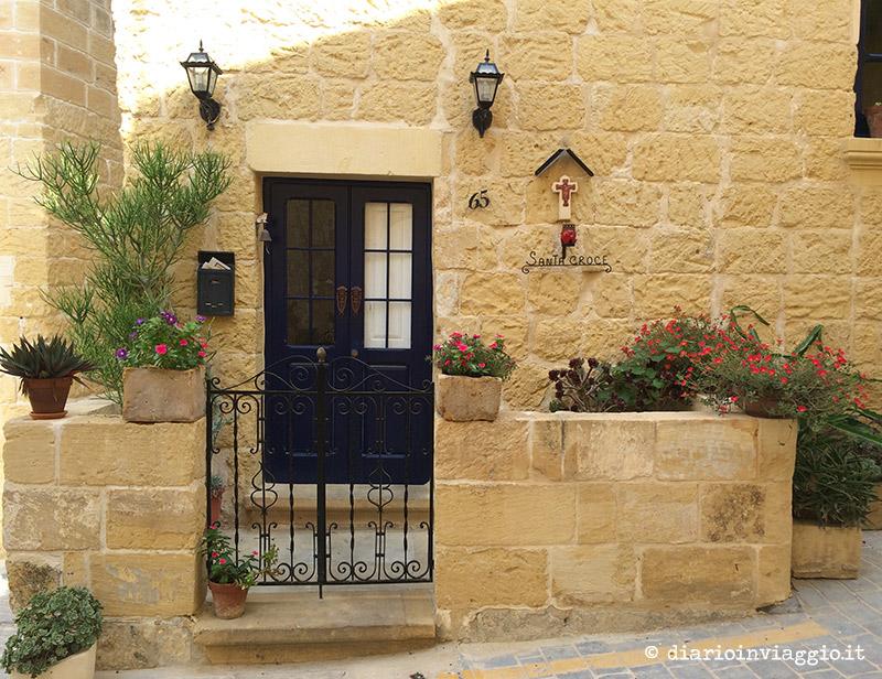 Il balconcino privato di una casa a Victoria, Gozo