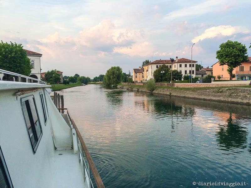 Attracchiamo con la barca a Concordia Sagittaria