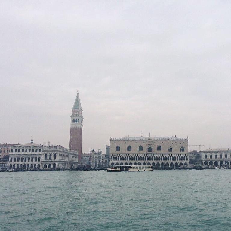 Piazza San Marco dalla barca a vela