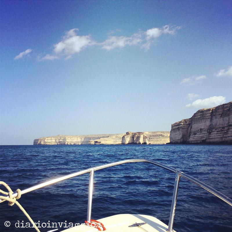 Le scogliere di Gozo (dalla barca)