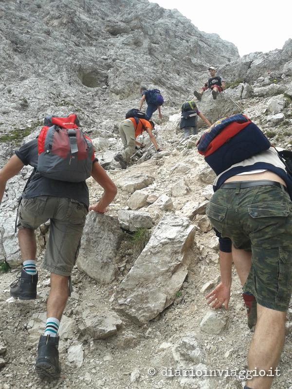 escursione sorapiss dolomiti