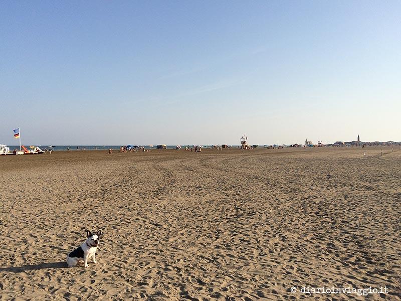 L'enorme spiaggia di Levante di Caorle