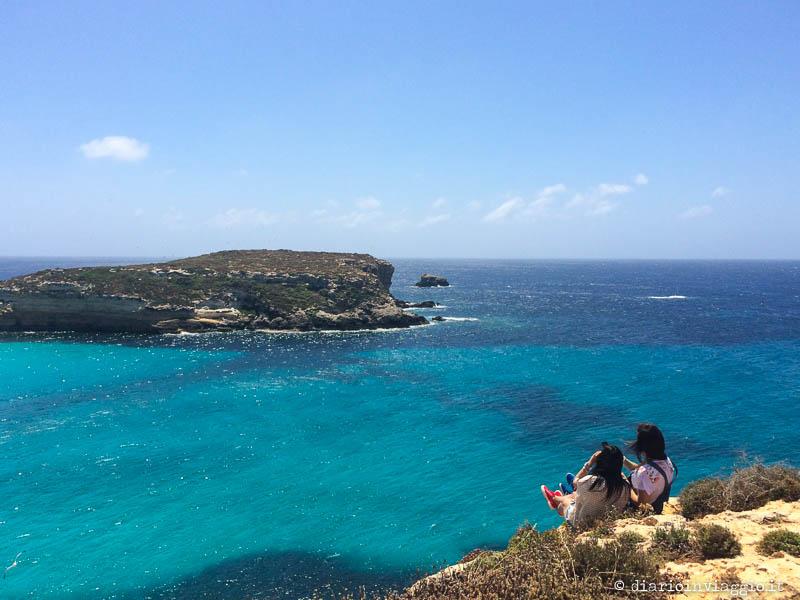Vista sull'isola dei Conigli