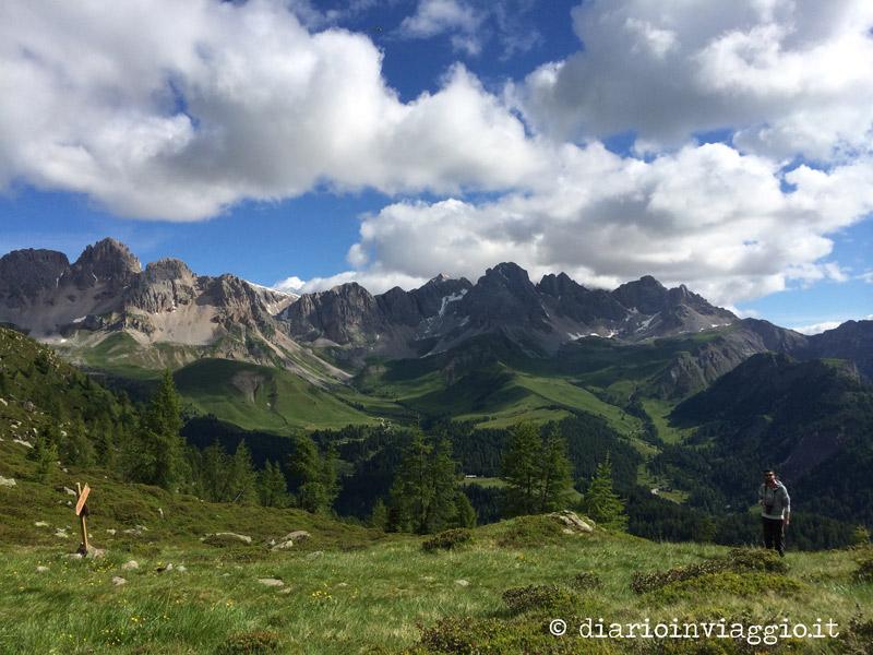 Le montagne dal lato del Passo San Pellegrino