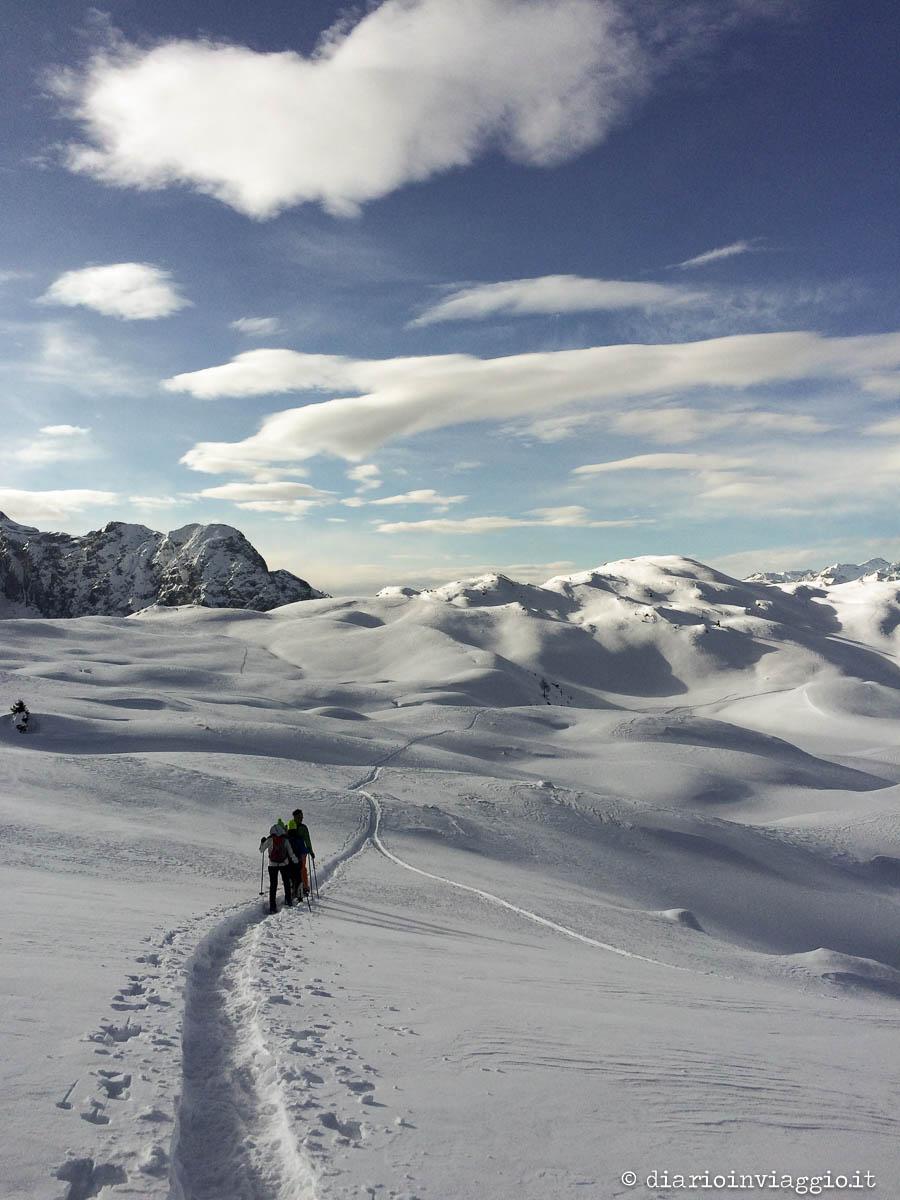 Ciaspolata fino al Monte Spinale