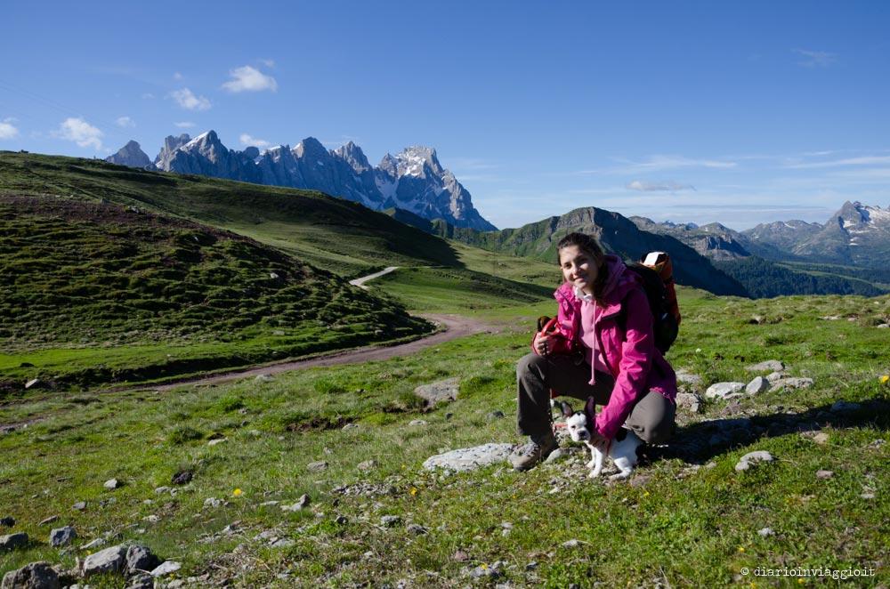 vale e lola in montagna