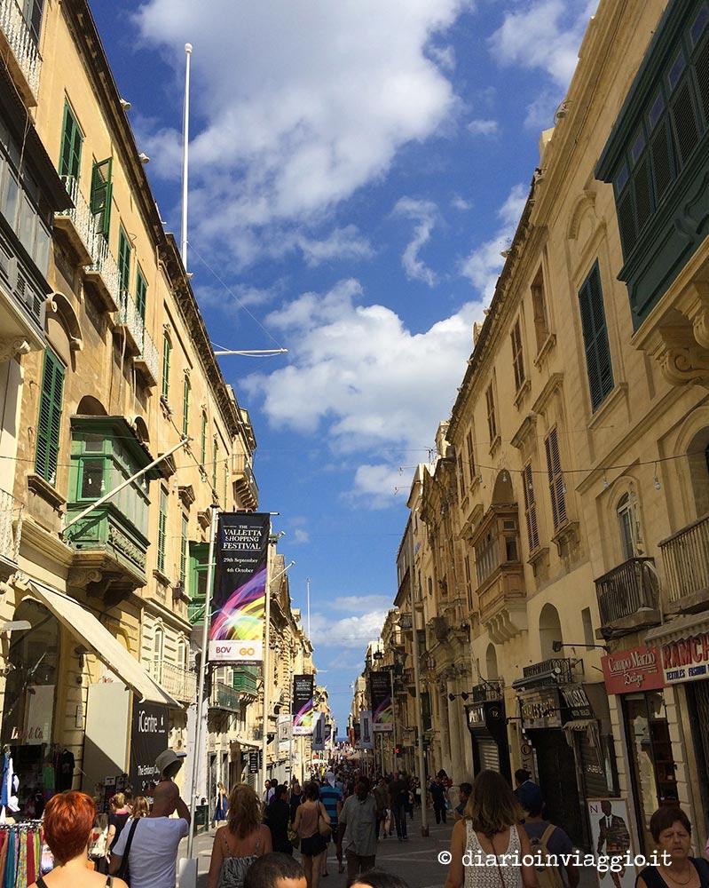 Le vie de La Valletta, Malta