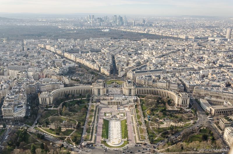 Vista dal 3° livello della Tour Eiffel